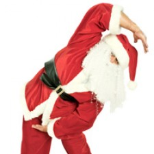 Santa-Exercising